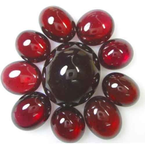 Lot of Red purple red  rhodolite garnet cabochons - 92.040 ct ( 10pcs )