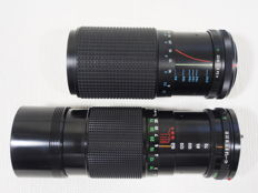 Canon zoom lens FD 4.5 - 70 to 150 mm and Tokina 1:4 - 80 to 200 mm