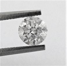 Round Brilliant Cut  - 0.79 carat - D color - VS2 clarity AIG Big Certificate + Laser Inscription On Girdle