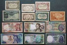 Portugal - lot of 13 banknotes - 1891/1978