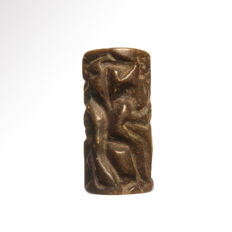 Large Bactrian Seal Bead, 5 cm L