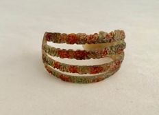 Painted horn Art Nouveau Bracelet