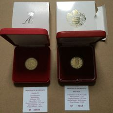 "Monaco – 2 Euro 2010 ''Prince Albert'' + 2 Euro 2011 ""Marriage Albert & Charlene'' in cases"