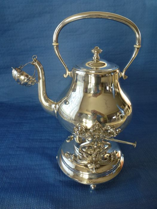 Silver plated metal Samovar signed Wiskemann - early 20th century - Belgium