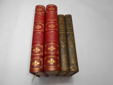 Lot with 4 volumes on the Consulate and the Empire - 1830 / 1887