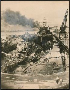 Unknown/U.S. Navy Department - USS Pennsylvania after attack on Pearl Harbor, 1942
