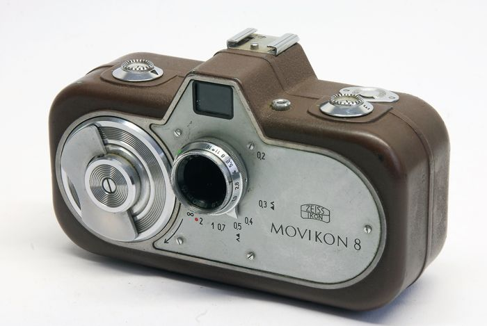 Double 8 camera by Zeiss-Ikon made in Stuttgart, Germany, in 1952