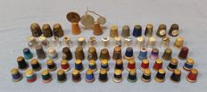 British Thimble collection - metallic and wooden pieces!