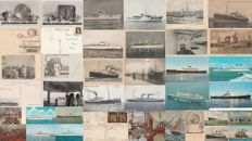NAVY - Set of 42 postcards - Italy, ships / steamers