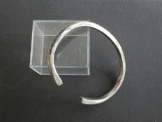 Early medieval silver Viking bracelet - 60 mm