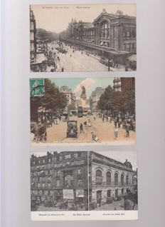 very good lot of 100 old postcards of Paris very animated