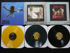 Nirvana - Great lot of 3LP's, including 2x coloured vinyl!