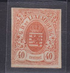 Luxembourg 1859 - Coat of Arms, 40 cent Imperforated, orange-vermilion - Unificato no. 11