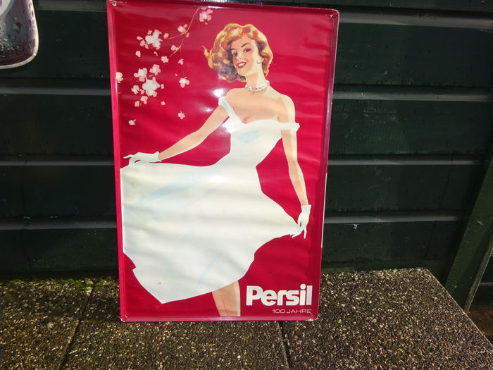 Advertising sign metal / tin - Persil - ca. 1980