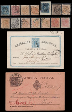 Spain 1875/1940 - Lot of 28 items and 14 stamps of Murcia postal history