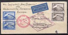 German Empire 1930 - letter transported by airship Graf Zeppelin Südamerikafahrt 1930, Hans-Dieter Schlegel Certificate