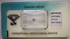 Natural Fancy Light Pink Diamond 0.13 ct  with IGI cert ***No minimum price***
