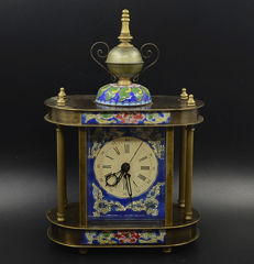 Cloisonne clock - late 20th century.