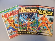 Marvel Comics - Warlock #1 + Marvel Premiere featuring The Power of Warlock #1 + 2 - X3 sc - (1972)