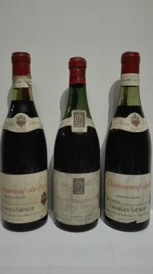 1980 Chateauneuf du Pape  Charles Vienot x 2 bottles - 1964 Chateauneuf du Pape  Marcel Quancard x 1 bottle / 3 bottles in total