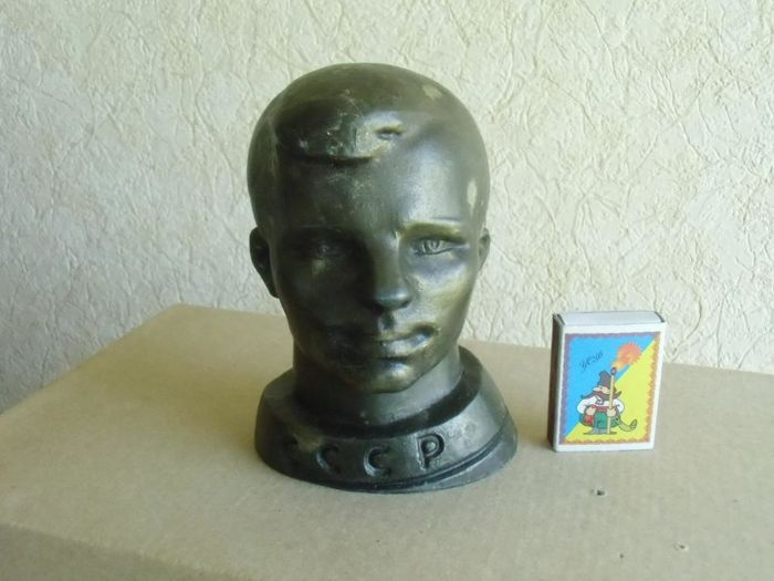 USSR Sculpture - a bust of the first astronaut of the USSR Yury Gagarin