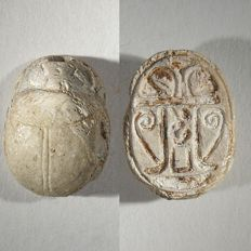 Steatite scarab with the name of the legendary Queen Hatshepsut. Egypt.  19  mm