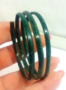 Bronze bracelet spiral of the early Iron Age 49 mm