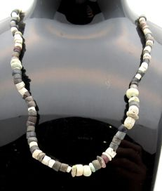 Ancient Roman Glass & Stone beaded necklace - 440 mm