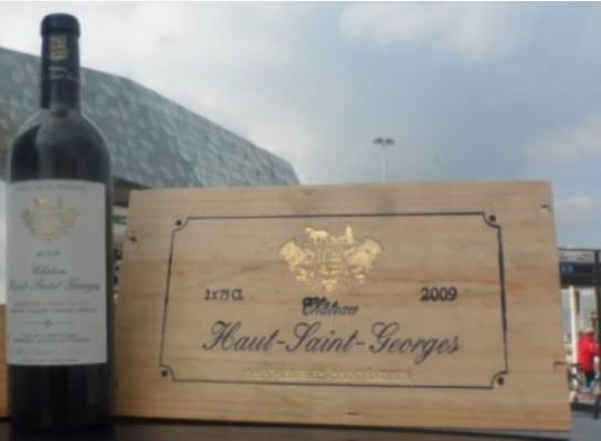 2009 Chateau Haut St Georges /3 x 2 bottles in wooden box