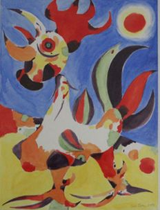Luis Passos - About the Rooster of Miró