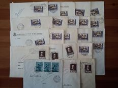 Vatican 1960/1963 - 23 used envelopes sent between the Holy See and the Bishop of Lecce, Francesco Minerva