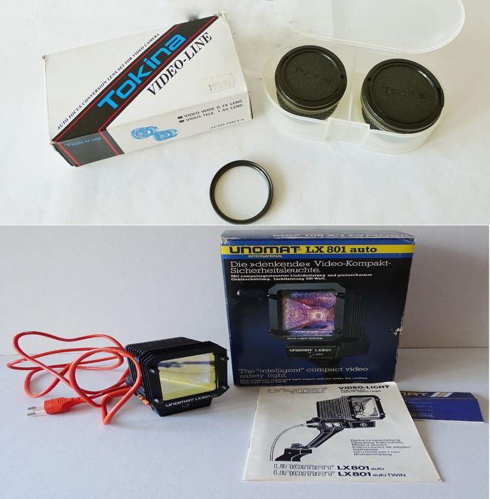 Tokina AF Video Conversion Lens set VSC-0714 + Unimat Compact Video Light LX801