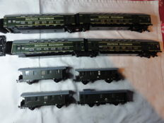 Piko/Schicht H0 - 4-part double decker carriages and 4 commuter carriages of the DR