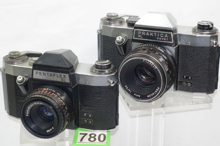 Zeiss ikon veb pentaflex sl and praktica pl nova 1 camera catawiki