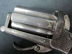 Antique Pinfire Pistol (Pepperbox) by Victor Collette c. 1860