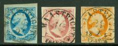 The Netherlands 1852 - King Willem III - NVPH 1/3 with semi-circular cancellation Maastricht B