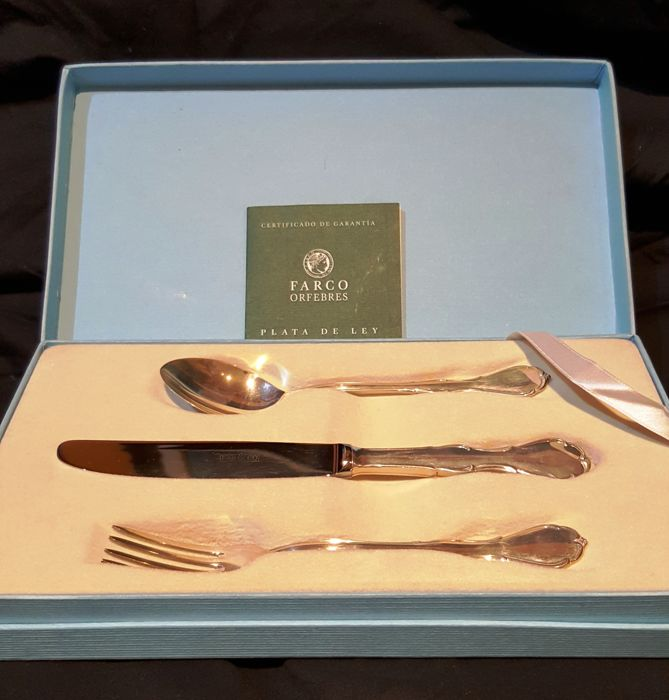 Cutlery set in .925 silver, Farco Orfebres