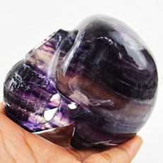Huge Multicolor Fluorite skull - 90x75x52 mm - 647 gm