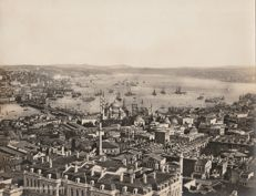 Unknown - View of the Bosporus' mouth with Sainte Sophie, Constantinople, Turkey