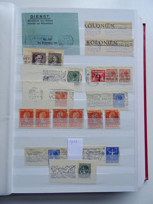 The Netherlands 1879/1993 - Batch including cancellations in 5 stock books