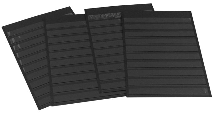 Accessories - 50 Leuchtturm stock cards A4, colour black with 9 rows