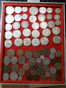Poland - Lot of 75 coins including 33 silver ones