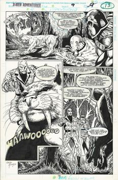 Original Art Page by John Herbert and Greg Adams - Marvel - X-Men Adventures no. 9, page 9