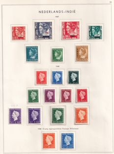 Dutch East Indies 1933/1949 - Collection, including postage series queen Wilhelmina, among others