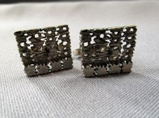 Cufflinks - hallmark QD - 835 silver - hallmarked and marked