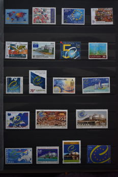 Europa Stamps 1960/2005 - Collection of followers in 2 stock books