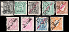 Portugal 1892/1893 - Surcharged Stamps - Yvert 78/86