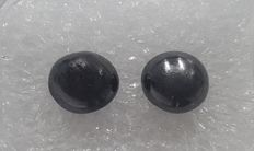 Cts. 3.50, A Couple of Diamond Pearls (Semi Round), AIG Certified, Black, Very Unique