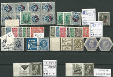 "Belgium - Selection of stamps ""Back of the book"""