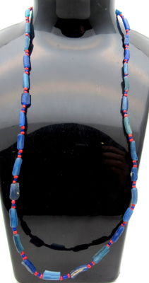 Ancient Glass beaded necklace - Wearable Gift - 460 mm